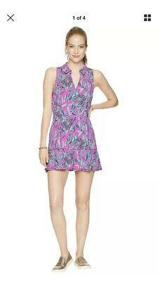 300a0272af745c NWT Lilly Pulitzer Luxletic Martina Tennis Dress Mandevilla Pink Extra Lucky  M