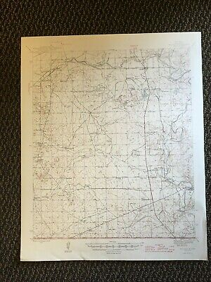 Vintage USGS Malaga New Mexico 1946 Topographic Map