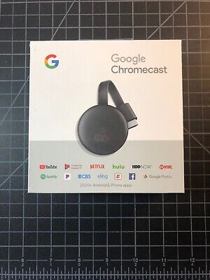 Google Chromecast 3rd Generation Digital HDMI Media Streaming (2018 New Version)