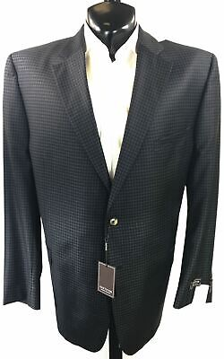 Jack Victor Gray Checked 100% Wool Sport Coat | Multiple Sizes
