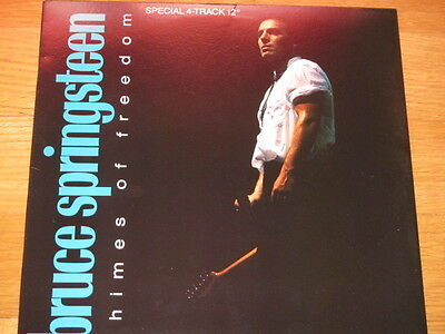 """12"""" Bruce Springsteen Usa Chimes Of Frredom - Tougher Than The Rest Be True Born"""