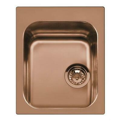 Smeg VS34P3RA Basin Sink Recessed Stainless Steel PVD Copper 42 CM