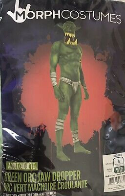 99571e9a6 ADULT MENS ORC Jaw Dropper Halloween Morphsuit Fancy Dress Party ...