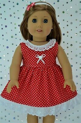 "Doll Clothes For 18""American Girl~Our Generation~JourneyPOLKA DOT DRESS~HEADBAND"