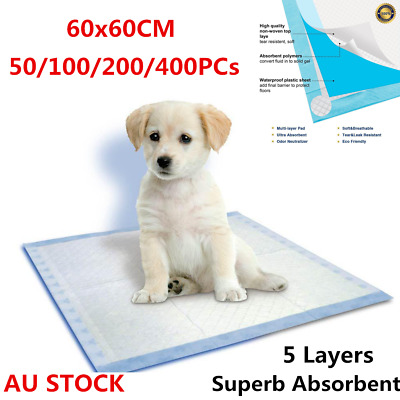 100/400Pcs 60x60cm Puppy Pet Dog Indoor Cat Toilet Training Pads Super Absorbent