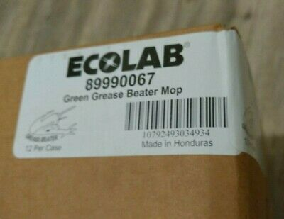 ECOLAB FOOD SAFETY - 89990067 - GREASE-BEATER™ MOP GREEN HEAD Case Of 12
