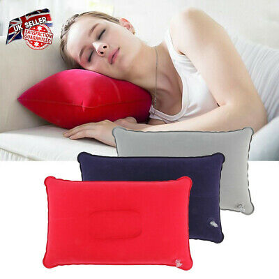 Travel Inflatable Cushion Pillow Camping Beach Plane Head Rest Support Plane TIK