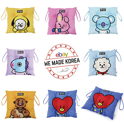 BT21 Character Cotton Sitting Cushion 40x40cm 7types Authentic K-POP Goods