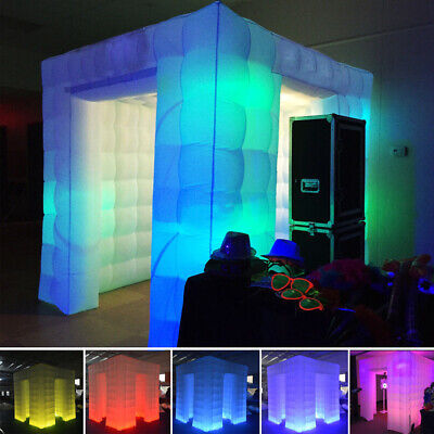 Inflatable Professional LED Air Photo Booth Tent 2.25M for Weddings Parties USA