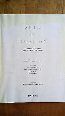 GMHC - NY Aids charity Auction catalog Sotheby's 1994 Elton piano 25% to charity