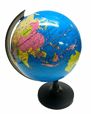 14/18/21cm Rotating Blue Ocean World Globe Map Educational Geography Desk Toy