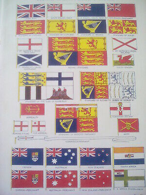 British Commonwealth Empire Flags & Standards & Historical 4 Pages not in Frame