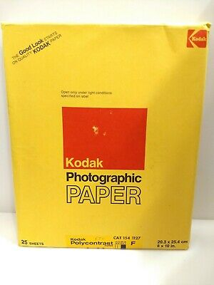Kodak Polycontrast Photographic Paper F 8x10 NOS 50 Sheets Double Weight VTG