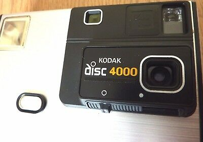 Kodak Disc 4000 Vintage 80s Camera uses Disc Film With case & Manual Made In USA