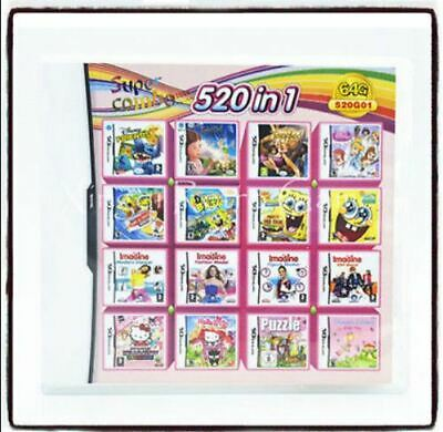 Super Nintendo NDS 520 IN 1 Video Game Cartridge Console Card Multi Games