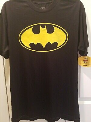 NWT Licensed Batman Classic Logo - Men's Black T-Shirt Graphic Tee  Medium,  XL