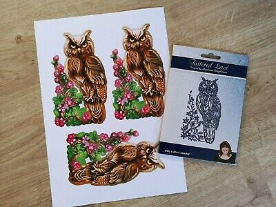 Tattered Lace Owl Lucky Charm Die - Free Download Available