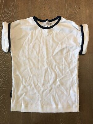 Petit Bateau 4 yr T Shirt New Old Stock Retro Vintage Traditional white navy NWT
