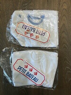 Petit Bateau 3 mo T Shirt New Old Stock Baby Retro Traditional 2 pcs NWT