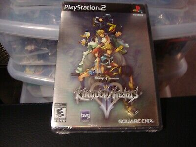 Kingdom Hearts II (Sony PlayStation 2, 2006) FOIL FIRST PRINT New Factory Sealed