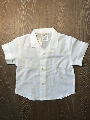 Petit Bateau 1 Yr New Old Stock Boys Button Shirt Lightweight Traditional France
