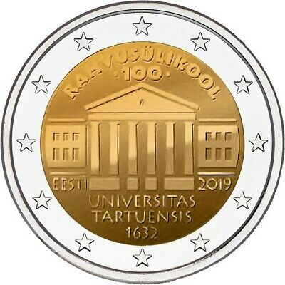 2 euro commémorative Estonie 2019 - Université de Tartu