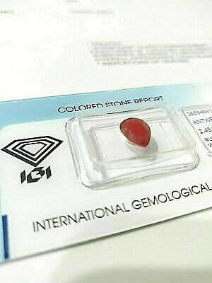 Rubis Ruby Naturel Natural Madagascar 2.49 carats Certificat IGI