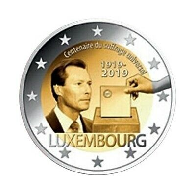 2 euro commemorative coin Luxembourg 2019 - Voting right