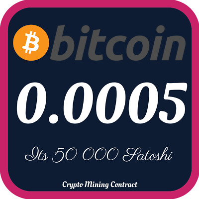 Bitcoin 0.00050000 BTC | MINING CONTRACT | Crypto Currency | Top 1 Coinmarketcap