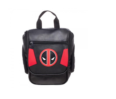 Marvel Deadpool Logo Travel Toiletry Dopp Kit - BLACK