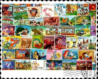 Walt Disney : 100 Different Stamps Collection