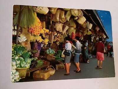 Market Place Baguio City Philippines Vintage Photo Postcard