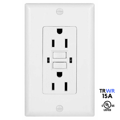 15A TR / WR Tamper, Weather Resistant GFCI GFI Safety Outlet Receptacle - UL2015