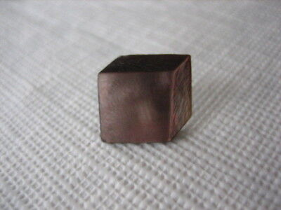 """Vintage Small 11/16"""" Carved Square MOP Mother Of Pearl Shell Button - P253"""