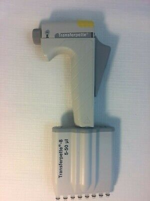 Brand Transferpette Adjust 8 Channel MultiChannel Pipette 5 - 50 uL, Working!