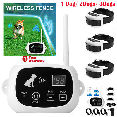 Wireless Electric 1/2/3 Dog Fence Pet Containment System Rechargeable&Waterproof