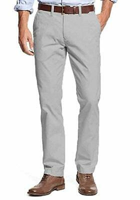 Tommy Hilfiger Men`s Tailored Fit Chino Pants(Grey, 32x30)