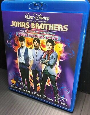 Jonas Brothers - The Concert Experience 3D/2D (Blu-ray/DVD, 2009, 3-Disc Open
