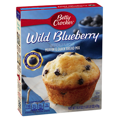 Betty Crocker Muffin & Quick Bread Mix, Wild Blueberry, 16.9 oz Box