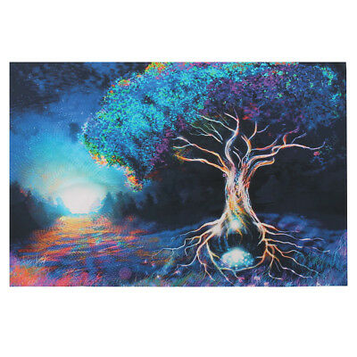 Psychedelic Trippy Tree Abstract Silk Fabric Posters Visual Mind Manifesting Art