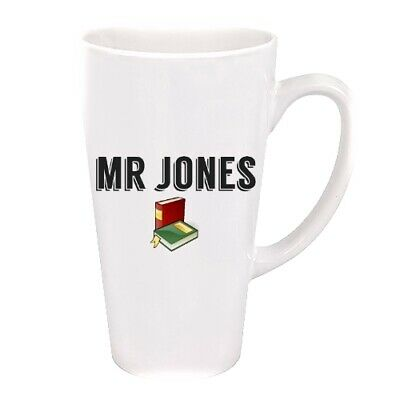 Personalised Teacher With Books 17oz Latte Mug - Perfect Gift For A Teacher