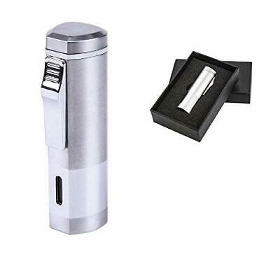 BS Cigar Cutter and Lighter Set Punch Triple Jet Flame Butane ...