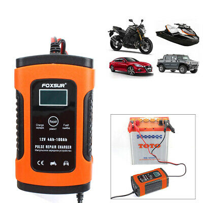 Automatic Smart Car Battery Charger 12V 5-6A LCD Display Auto Pulse Repair New