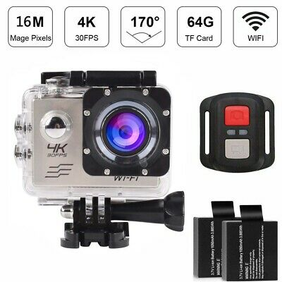 16MP HD Sports Action Camera Wifi Waterproof 2 Batteries For Hero 7 6 Full Sets