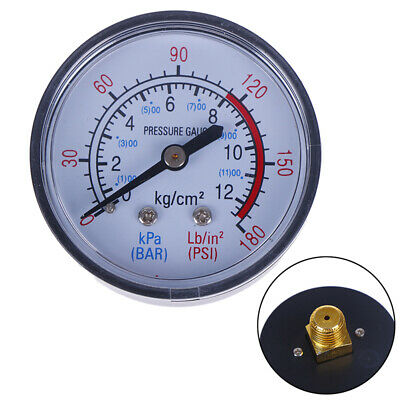 Bar Air Pressure Gauge 13mm 1/4 BSP Thread Double Scale For Air Compressor