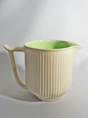 Superb Antique Art Deco Clarice Cliff Green Ribbed Large Jug R Y Goodden Newport