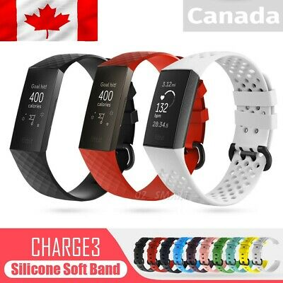 For Fitbit Charge 3 & 4 Replacement Silicone Watch Sports Band Strap Wristband
