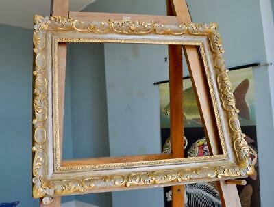 "SUPERB ANTIQUE VICTORIAN CARVED GILT PICTURE FRAME 20""X16"" REBATE vORNATE Rococo"