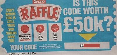 Sun Savers Digital Code Saturday 15th June