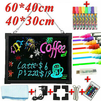 LED Light Up Drawing Writing Board Florescent Sensory Play Remote Controlled UK